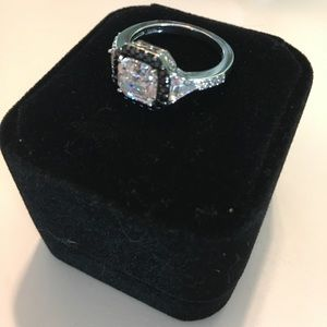 Jewelry - Asscher cut simulated diamond ring